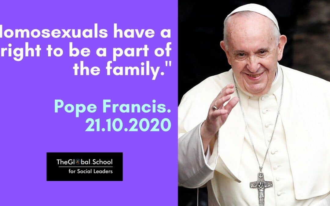 Pope endorses Gay Marriage